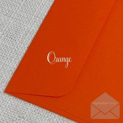 "Orange Envelopes 5""x7"" Rectangle Flap My Envelopes Auckland NZ"