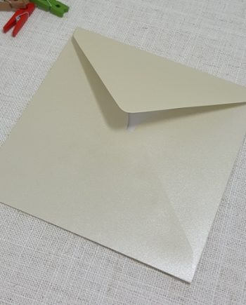 Pearlescent Cream 155mm Square Envelopes Diamond Flap My Envelopes Auckland NZ