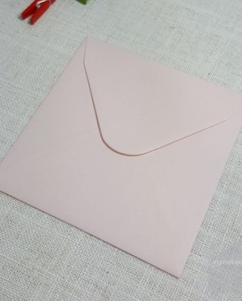 Pink Textured 130 mm Square Envelopes Diamond Flap My Envelopes Auckland NZ