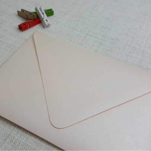 light pink coral metallic diamond flap 5x7 my envelopes nz. Black Bedroom Furniture Sets. Home Design Ideas