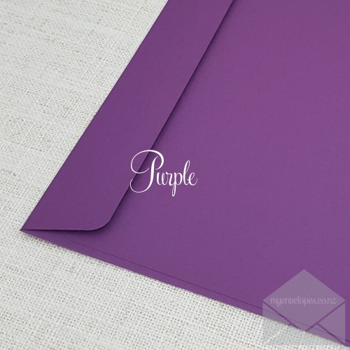 Purple Envelopes C6 Rectangle Flap My Envelopes Auckland NZ