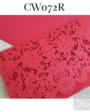 Z-CW072 Red Laser Cut Pocket My Envelopes Auckland