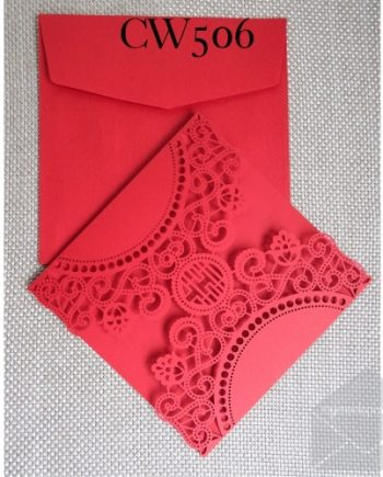 CW506 Red Wedding Invitation Cover Gatefold Chinese auckland nz my envelopes