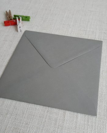 Galvanised Metallic 155mm Square Envelopes Diamond Flap My Envelopes Auckland NZ
