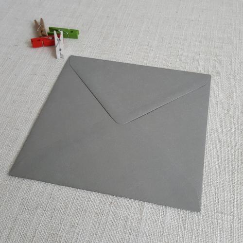 Galvanised Metallic 155mm Square Envelopes Diamond Flap My Envelopes Auckland NZ