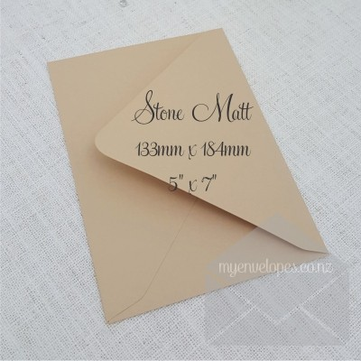 Stone Envelopes 5x7 Diamond Flap My Envelopes Auckland NZ