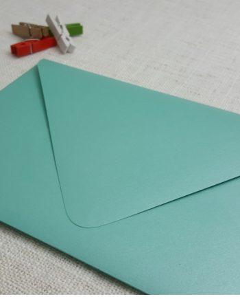 Teal Green Metallic 5x7 Envelopes Diamond Flap My Envelopes Auckland NZ