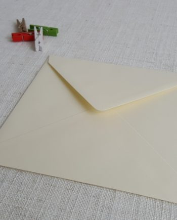 Vanilla 155mm Square Envelopes Diamond Flap
