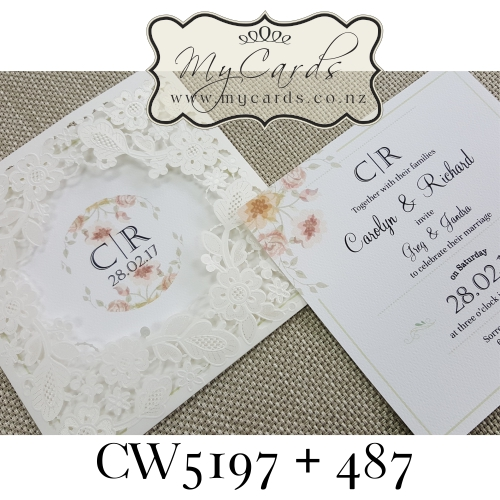 Z-CW5197 Wedding Invitation Cover Sleeve