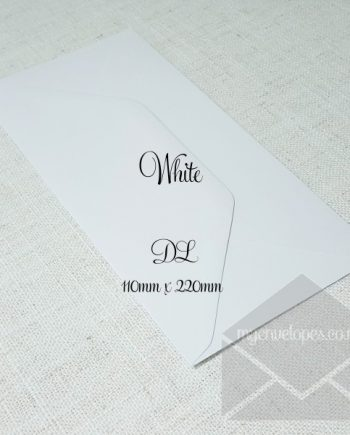 White Envelopes Diamond Flap Matt DL NZ