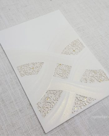 Z-CW060 Sleeve Latice Wedding Invitation Cover Lasercut my envelopes auckland nz