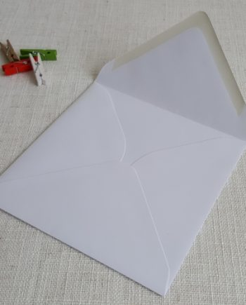 White 155mm Square Envelopes Diamond Flap My Envelopes Auckland NZ