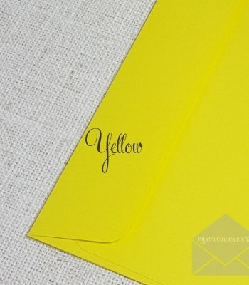 Yellow 5x7 Envelopes Rectangle Flap Envelope 120gsm Envelope Size: 5x7 130mm x 185mm Tropical Seal ( also known as Lick and Stick or Gummed ) My Envelopes Auckland NZ