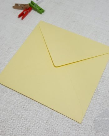 Yellow 155 mm Square Envelopes Diamond Flap My Envelopes Auckland NZ